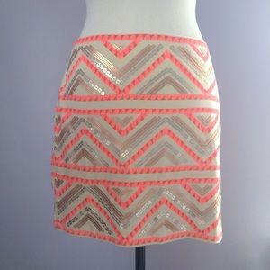 Express Tribal Sequined Skirt